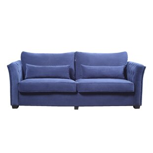 Alameda Traditional Velvet Fabric Sofa by Everly Quinn