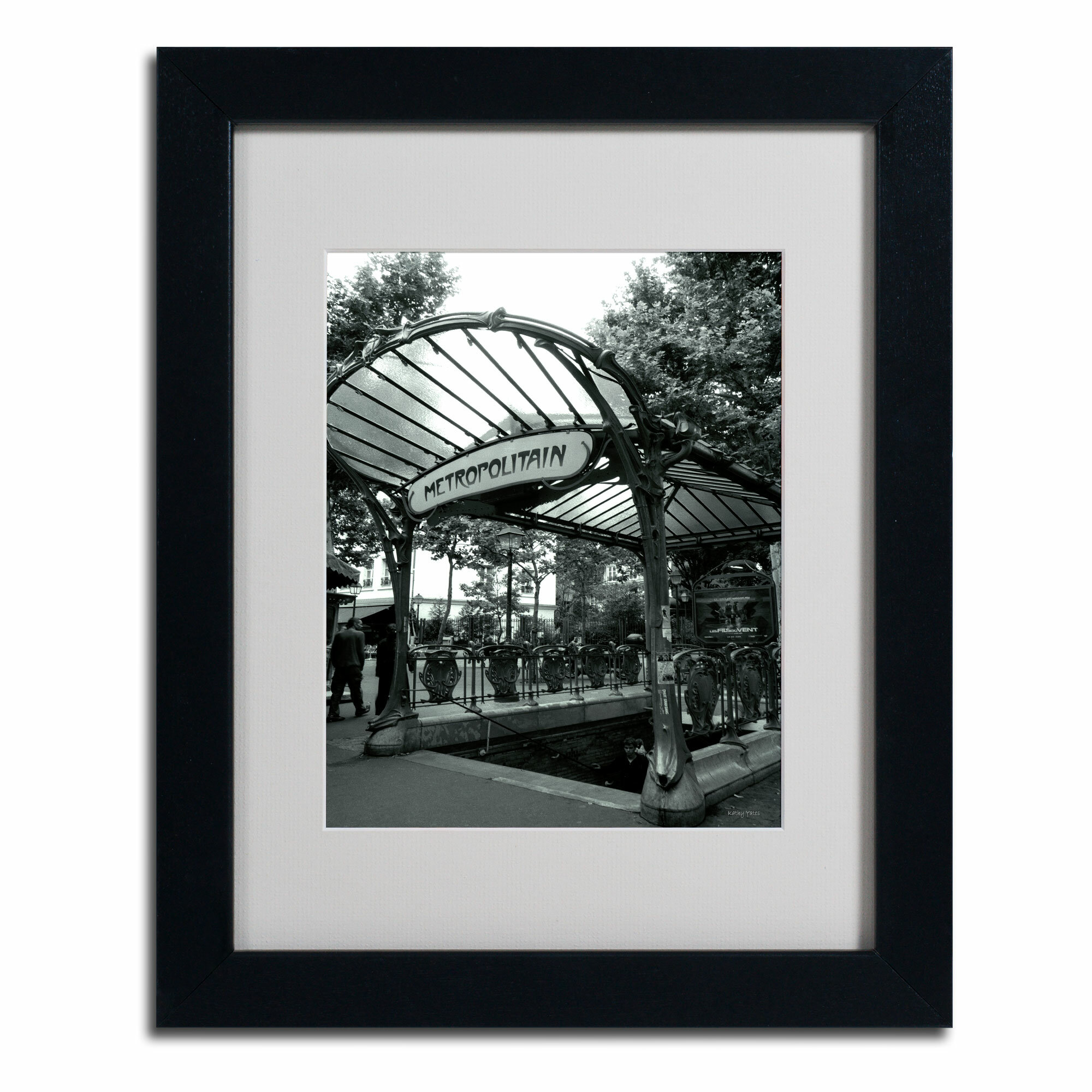 Trademark Art Le Metro As Art By Kathy Yates Framed Photographic Print Wayfair