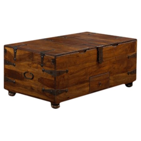Loon Peak Mapleton Trunk Coffee Table Reviews Wayfair