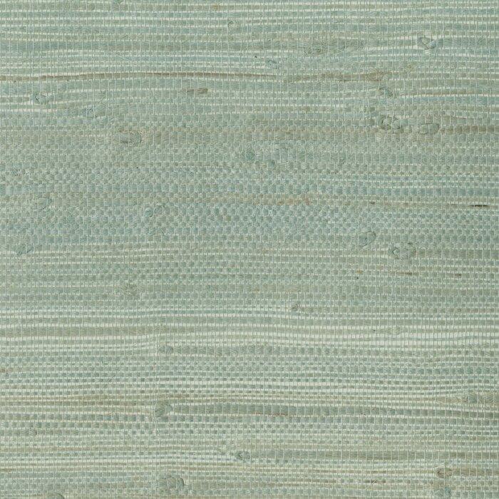 Zen Myogen Green Grasscloth 24 X 36 Gingham Wallpaper