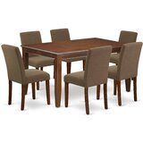 Darleen 7 Piece Solid Wood Dining Set by Alcott Hill®