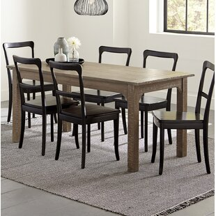 Branson 7 Piece Solid Wood Dining Set Best