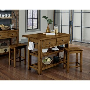 Shelton Kitchen Island Set Loon Peak