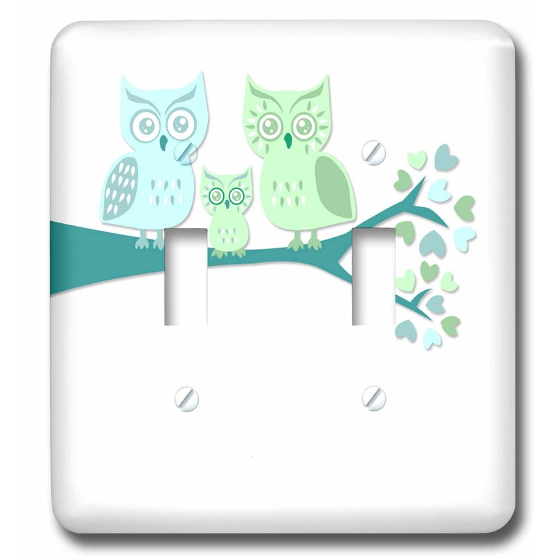 3drose Cute Owl Family With Baby Boy 2 Gang Toggle Light Switch Wall Plate Wayfair