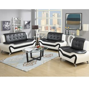 Find Wishart Contemporary 3 Piece Living Room Set by Orren Ellis Reviews (2019) & Buyer's Guide