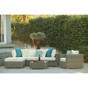 Greendale 4 Piece Deep Seating Group with Sunbrella Cushion