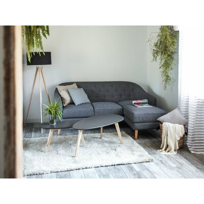 Amazing Corner Sectional Beliani Upholstery Dark Grey Alphanode Cool Chair Designs And Ideas Alphanodeonline