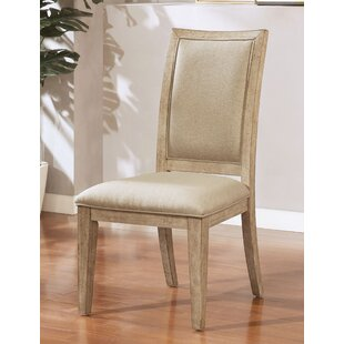 Sweatt Upholstered Side Chair in Beige Set of 2 by Union Rustic
