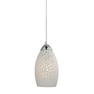 Ebern Designs Mouzon Etched Glass 1-Light..