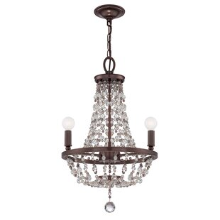 Crystorama Loretta 3-Light Empire Chandelier