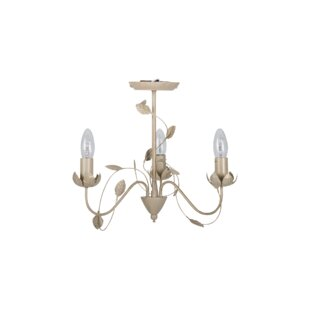 Shabby chic chandelier wayfair shabby elegance porcelain effect 3 light candle style chandelier mozeypictures Image collections