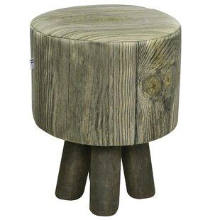 Wood Stool By Happy Barok