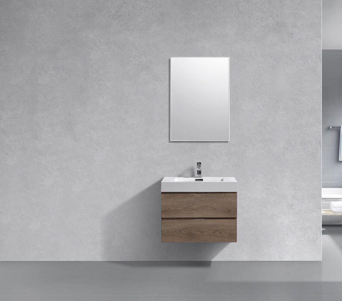 Wade Logan Malakai 30 Wall Mounted Single Bathroom Vanity Set Wayfair
