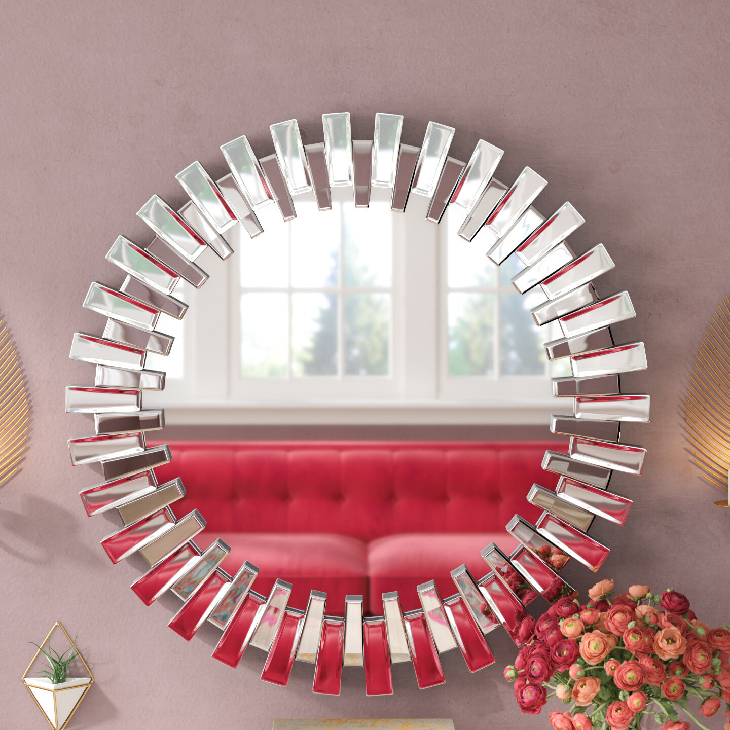 Well known Willa Arlo Interiors Deniece Sunburst Round Wall Mirror & Reviews  EE28