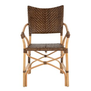 Mejia Rattan Upholstered Dining Chair (Set of 2) Bayou Breeze