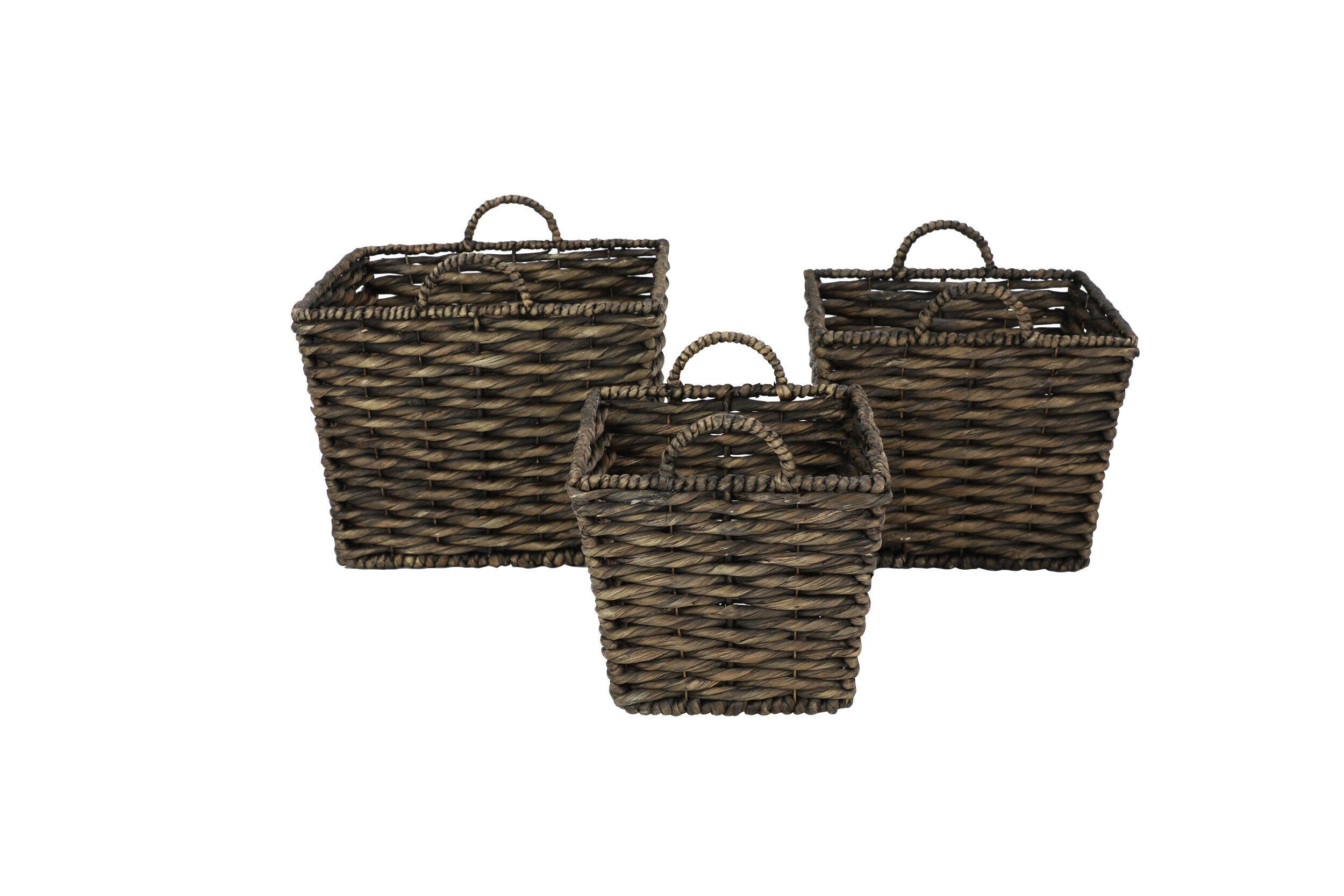 Square 3 Piece Wicker Rattan Basket Set Joss Main