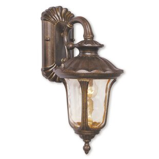 Online Reviews Gurnee Aluminum 1-Light Outdoor Wall Lantern By Three Posts
