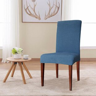 Jacquard Box Cushion Dining Chair Slipcover