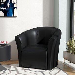Elisha Swivel Barrel Chair by Wade Logan
