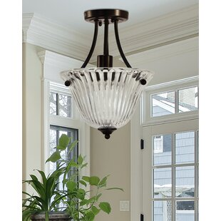 Destiney 1-Light LED Semi Flush Mount by Charlton Home