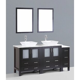 Netto 71 Double Bathroom Vanity Set with Mirror by Ebern Designs