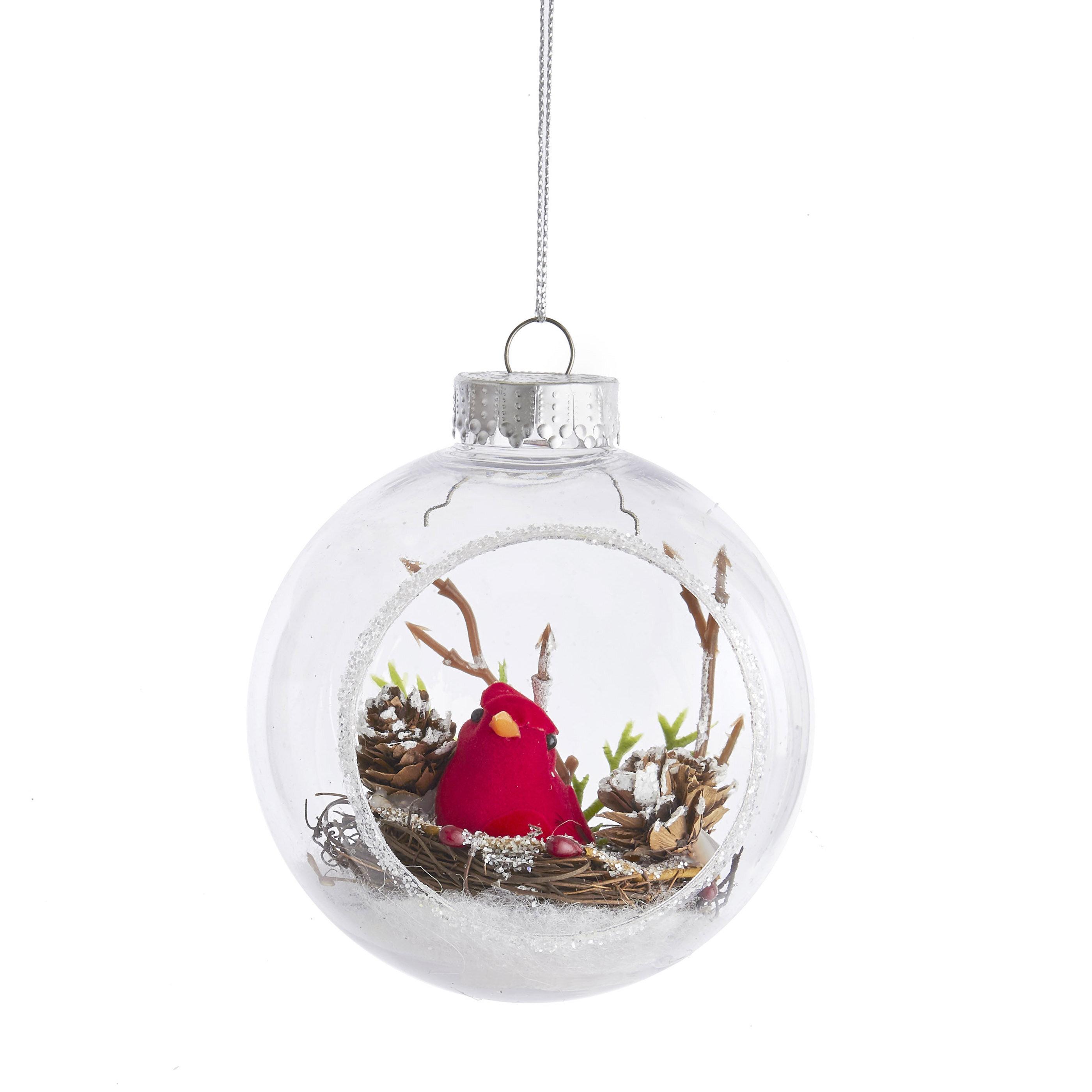 Kurt Adler Cardinal Ball Ornament Reviews Wayfair