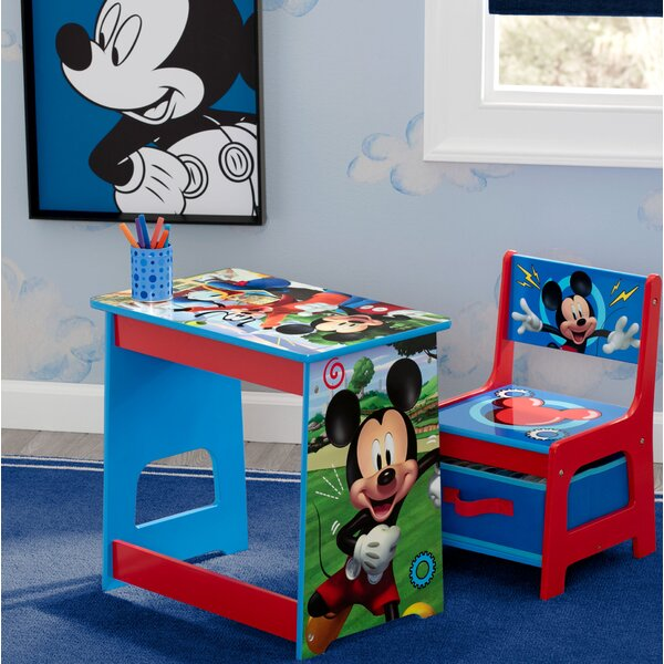 Disney Mickey Mouse Kids 2 Piece Activity Table And Chair Set