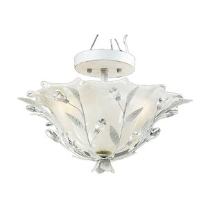 Meansville 2-Light Semi Flush Mount by Ophelia & Co.