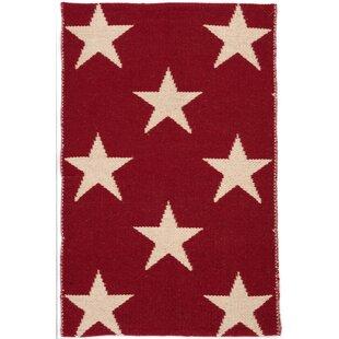 Star Handwoven Red/Ivory Indoor/Outdoor Rug By Dash & Albert Europe