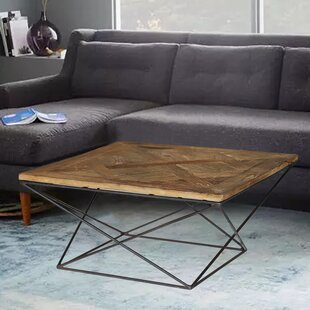 Joshua Reclaimed Elm Wood Coffee Table by Modern Rustic Interiors