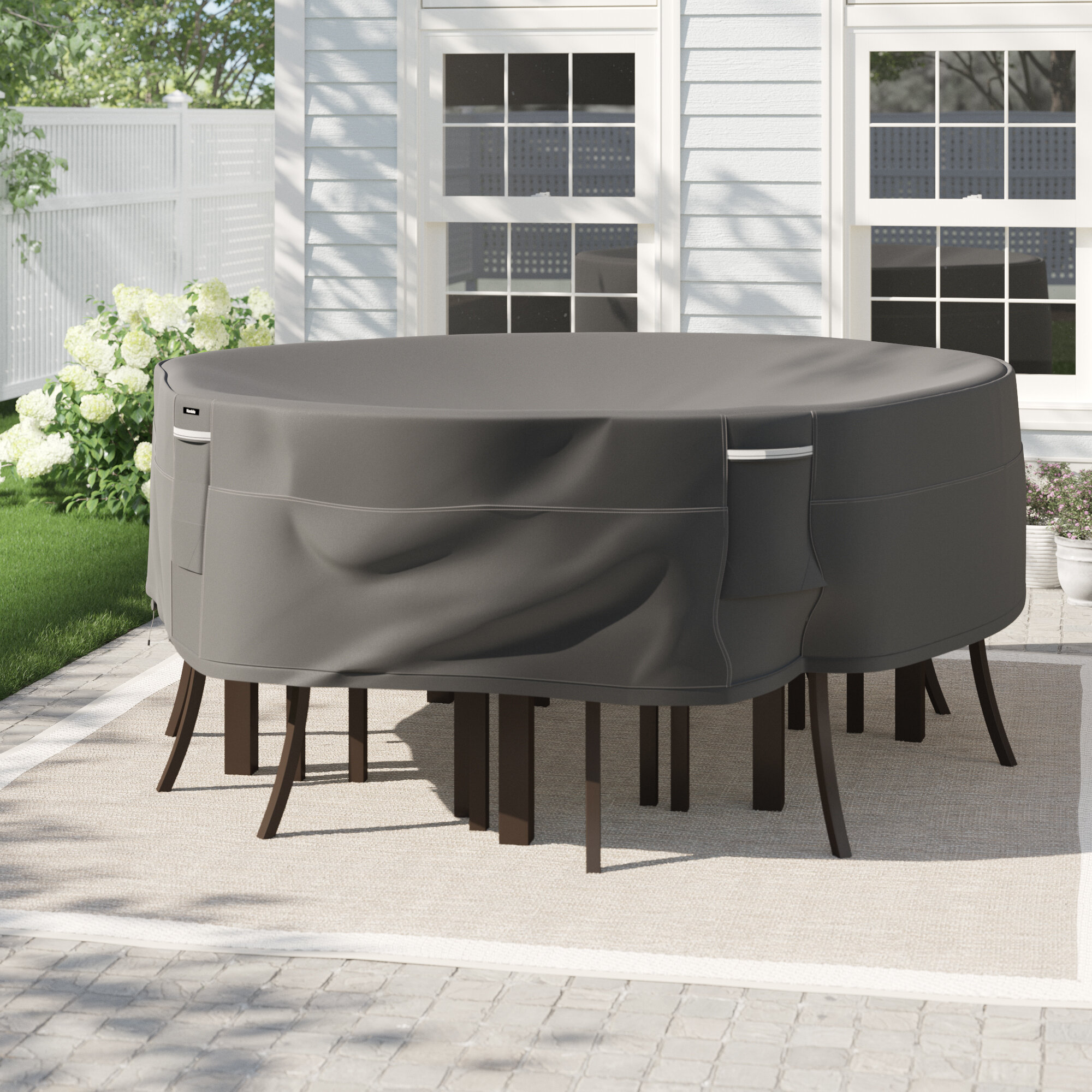 Arlmont Co Round Water Resistant Patio Dining Set Cover Reviews Wayfair