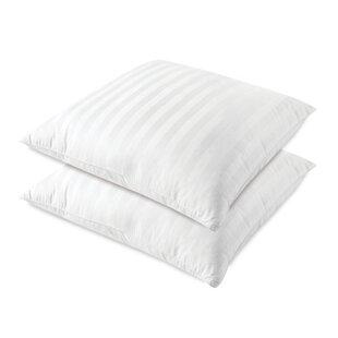 Alwyn Home Luxury Sateen Stripe Fiber European Pillow (Set of 2)