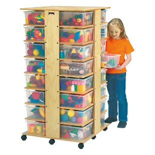 Tower Double Sided 32 Compartment Cubby with Casters ByJonti-Craft