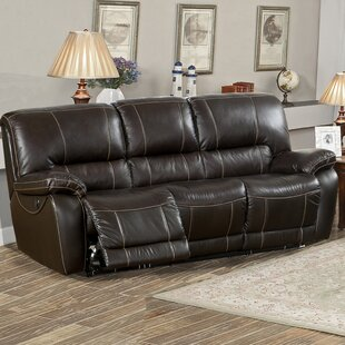 Womble Leather Reclining Sofa by Latitude Run