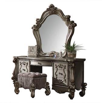 Allmodern Boleynwood Vanity With Mirror Wayfair