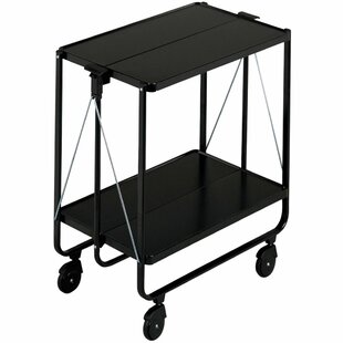 Leifheit Folding Kitchen Trolley With Stainless Steel Top By Symple Stuff