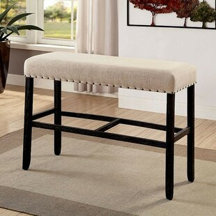 Huey Counter Upholstered Bench by Canora Grey