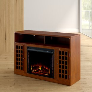 Stone Post TV Stand for TVs up to 50 with Fireplace