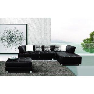 Hokku Designs Klyne Sectional with Ottoman