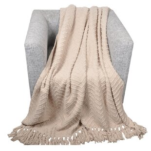 Jupiter Knit Zig Zag Textured Woven Throw