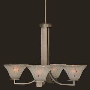 Red Barrel Studio Elburn 4-Light Shaded Chandelier