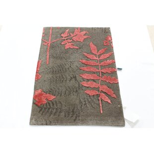 Reviews One-of-a-Kind Fresnel Tibetan Hand-Knotted Brown/Pink Area Rug ByRed Barrel Studio