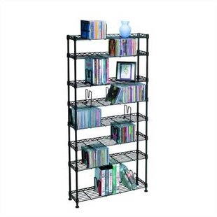 Symple Stuff 8-Tier Adjustable Multimedia Wire Rack