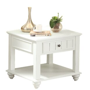 Collin Bottom Shelf Wooden End Table with Storage by Highland Dunes