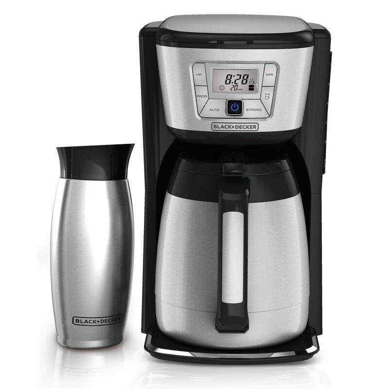 12 Cup Thermal Coffee Maker And Mug