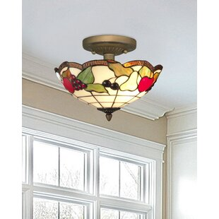 Fruits 2-Light Semi Flush Moun..