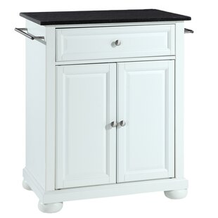 Alexandria Portable Kitchen Cart with Granite Top