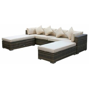 Tessa 8 Seater Rattan Corner Sofa Set With Cushion By Sol 72 Outdoor