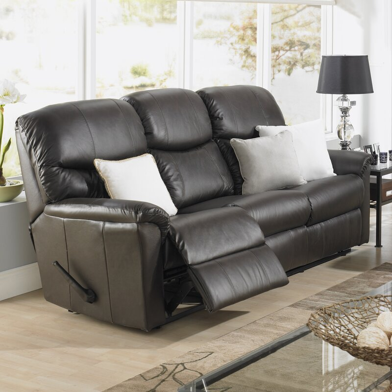 Relaxonuno Leather Reclining Sofa