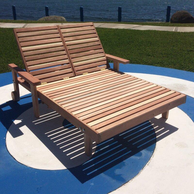 Orren Ellis Varda Wheel Double Chaise Lounge With Arms Wayfair